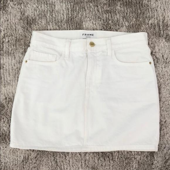 Frame Denim Dresses & Skirts - NEVER WORN Frame white denim skirt 26